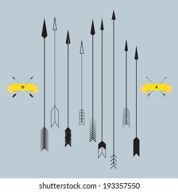 Set of Arrows, vector illustration