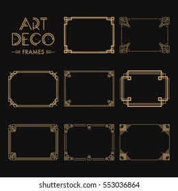Art Deco Background and Frame Images, Stock Photos \u0026 Vectors
