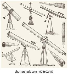Vintage Telescope Images, Stock Photos & Vectors | Shutterstock