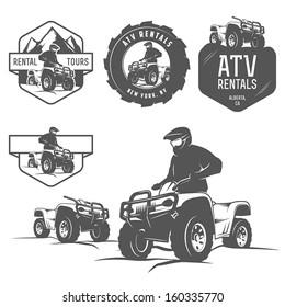 Set of ATV labels, badges and design elements