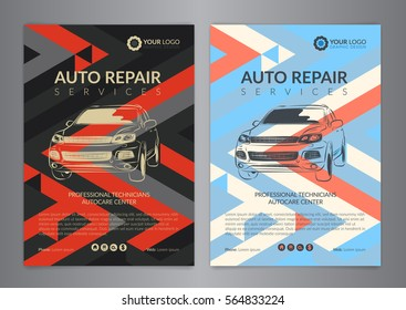 auto repair flyer images stock photos vectors shutterstock