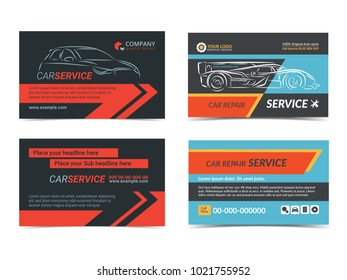 Auto repair business card template create stock vector royalty free set of automotive repair service business cards layout templates create your own business cards cheaphphosting Choice Image