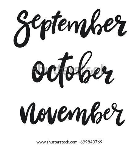 hand written september october november
