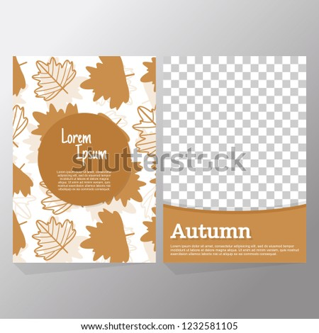 set autumn sale flyer template poster stock vector royalty free