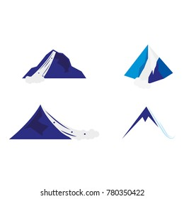 A set of avalanche icons