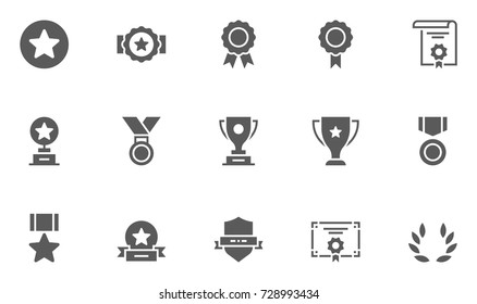 Set of Awards Vector Icons.