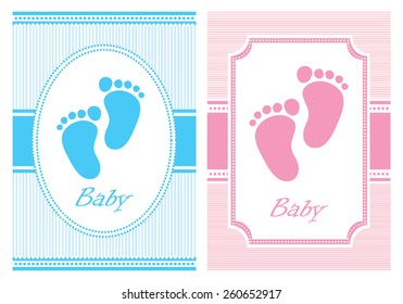 Set of baby cards