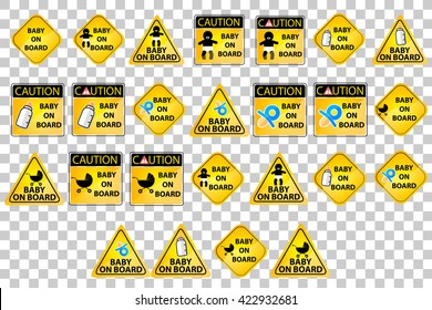 set of Baby On Board Sign