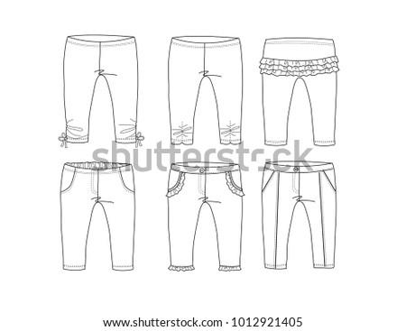 set of baby pants design templatevariety of designs baby pants or legging