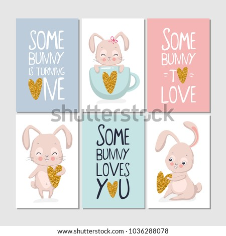set baby shower happy birthday posters stock vector royalty free