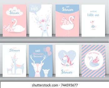 Mother goose images stock photos vectors shutterstock set of baby shower invitations cards poster greeting template stork goose filmwisefo