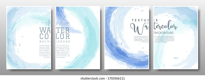 Set of background circle splash stain pastel blue. Vector template used as being an element in the decorative design of banner, cover, poster, card, and brochure.