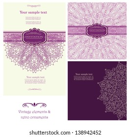 Set of background for invitation card vector eps 10
