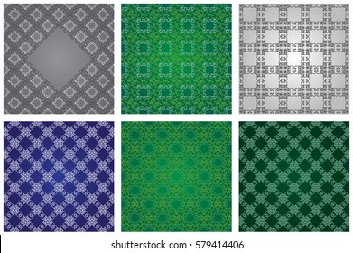 Set of background with islamic pattern. Vector illustration.