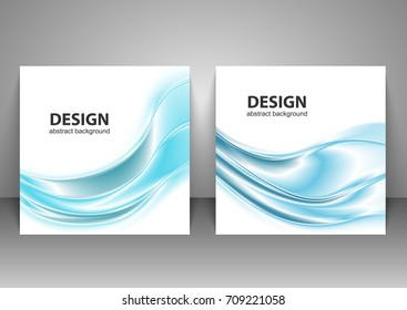 Set of backgrounds. Abstract wave background. Vector illustration.