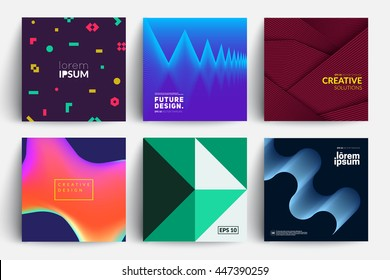 Set of backgrounds with futuristic design. Applicable for Covers, Placards, Posters, Flyers and Banner Designs.