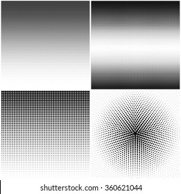 Set of backgrounds with halftone stipple effect, resizable vector for your design