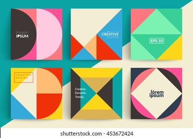 Set of backgrounds with trendy design. Applicable for Covers, Voucher, Posters, Flyers and Banner Designs.