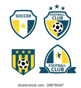 set of badges and labels soccer football club
