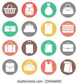 Set of Bags Icons. Vector