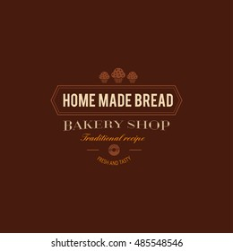 Set of bakery badges with bread, pastry icons and design elements. Vector labels and bakery logo for signage, branding, advertisement.