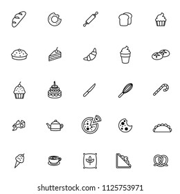 a set of bakery icon for your bakery and food design with vector line design