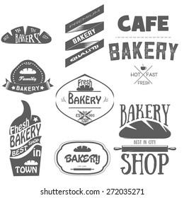 Set of bakery logos, labels, badges and design elements
