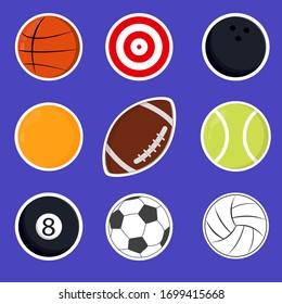 set of ball sport vector , balls vector pack. vector illustration