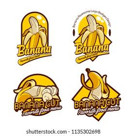 a set banana logo badge