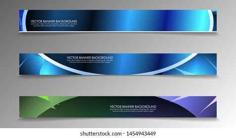 Set banner background with multicolor composition . vector design