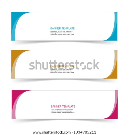 Set Banner Label Sticker Template Isolated Stock Vector Royalty