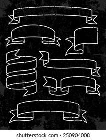 Set of banner ribbons. Vector illustration Eps8.