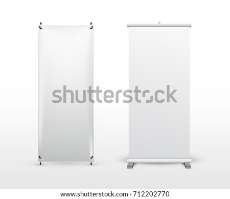 set banner stand flip chart training stock vector royalty free