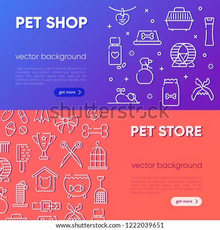 Set Banner Template Pet Shop Veterinary Stock Vector Royalty Free