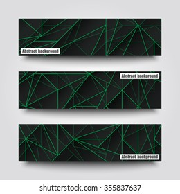 Set of banner templates with abstract background. Eps 10 Vector illustration.