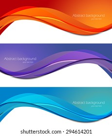 Set of banners in abstract material design style