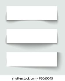Set of banners with different shadows.