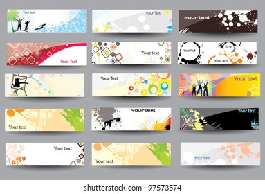 Set Banners glossy