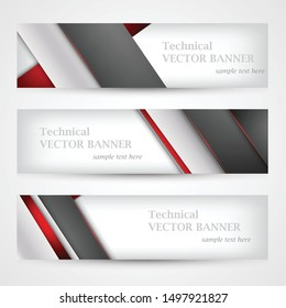 Set of banners with lines paper. Mesh. Business design template.