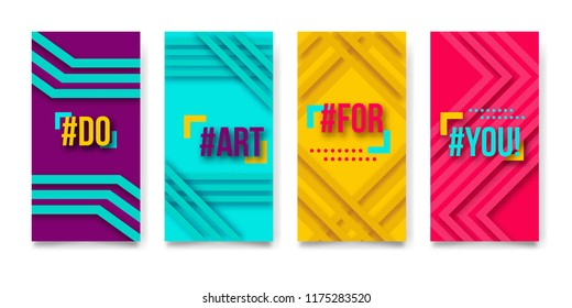 Set of banners pattern Background vector Template Brochures, magazine, social networks, flyer, presentations, leaflet, annual report, Questions and Answers, bright talk bubbles.