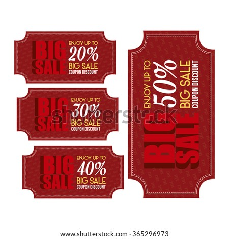 Set Banners Text Big Sales Promotions Stock Vector (Royalty