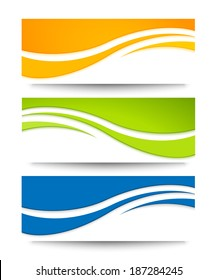Set of banners for your design.