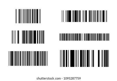 Set of bar code symbol illustration isolated on white background vector