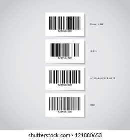 Set of barcode stickers - illustration