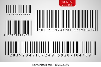 Set of barcodes icon. Vector illustration.