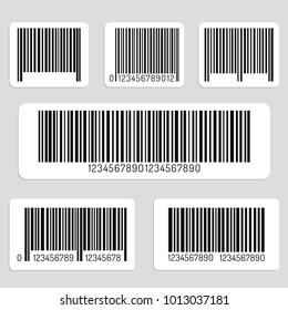 Set of barcodes isolated on a light background. Vector illustration.