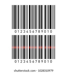 Set of barcodes isolated on white background. Vector illustration.