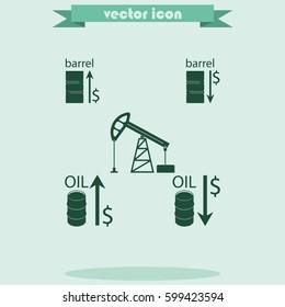 Set of barrel oil icon.