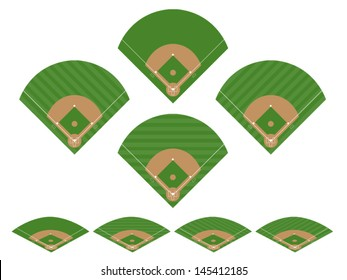 Set of Baseball Fields 2