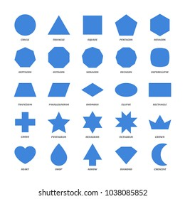 Set of basic geometric shapes.